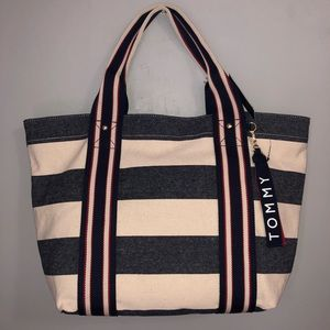Tommy Hilfiger tote striped bag NWT gift
